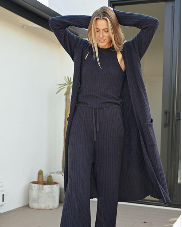 Naadam Ribbed Straight Lounge Pants 1