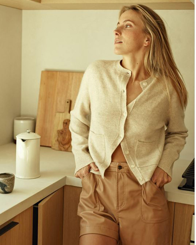 Naadam Button-Up Cashmere Cardigan 0