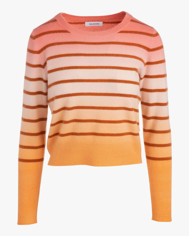 Naadam Striped Ombré Crewneck Cashmere Sweater 1