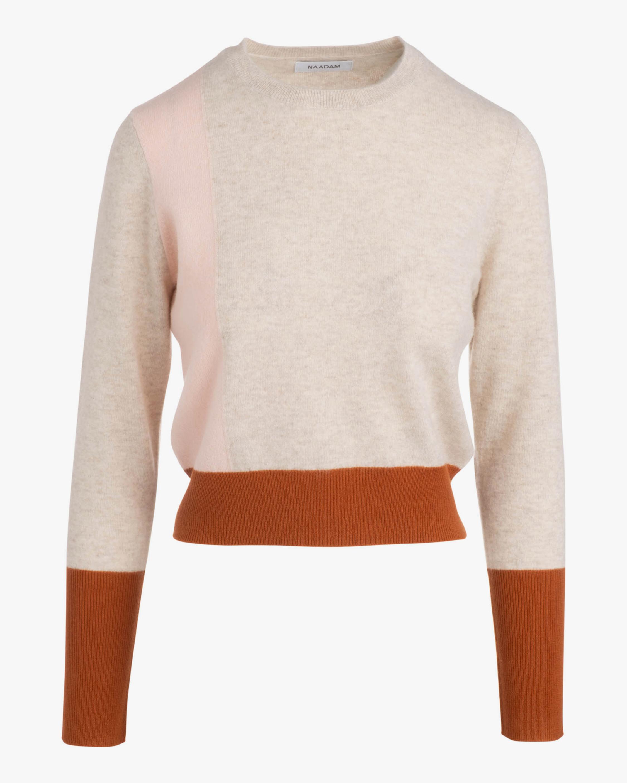 Naadam Colorblock Crewneck Cashmere Sweater 0