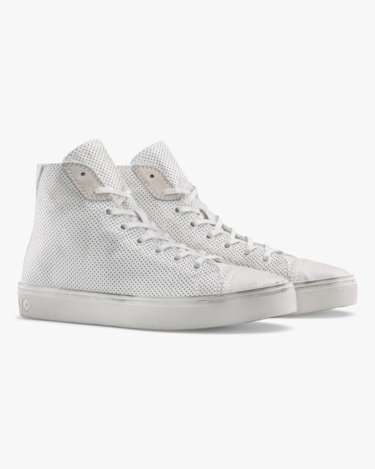 KOIO Court Chalk Perforated High-Top 1