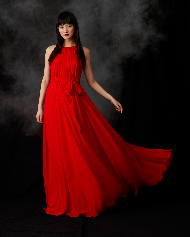 Badgley Mischka Pleated Gown 2