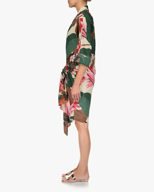One33 Social Floral Front-Tie Shirt Dress 1