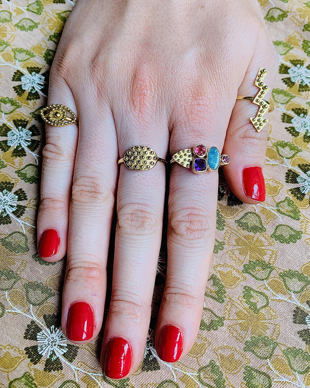 Gaya César Opal Ring 2