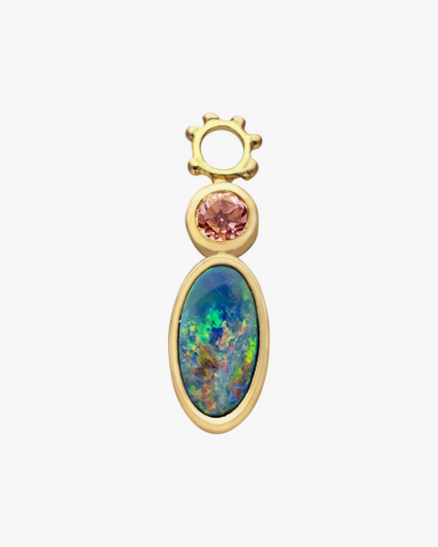 Gaya Single Opal & Purple Tourmaline Hoop Charm 1