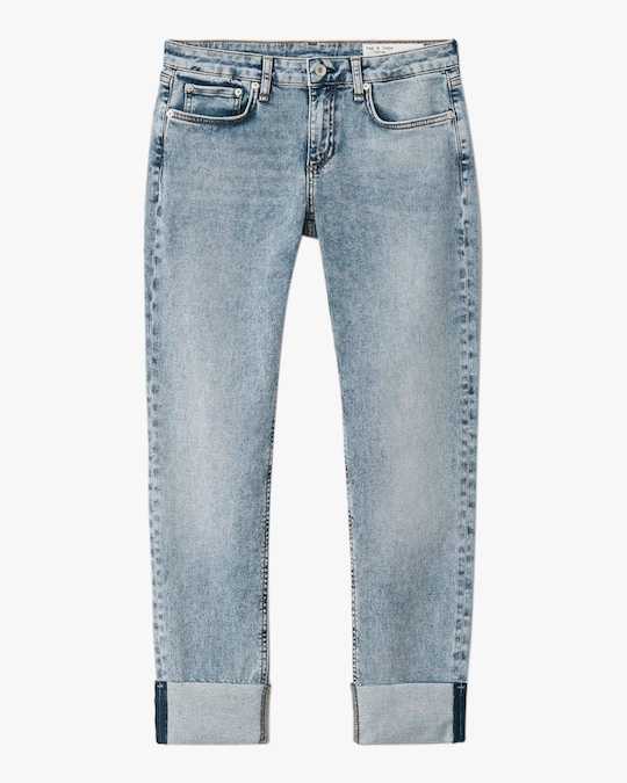 rag & bone Dre Low-Rise Slim Boyfriend Jeans 0