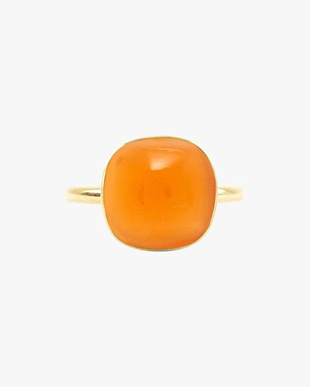 Juliette Du Jacob Orange Chalcedony Ring 0
