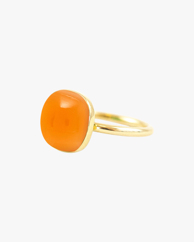 Juliette Du Jacob Orange Chalcedony Ring 1