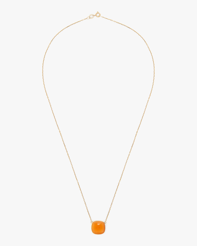 Juliette Du Jacob Orange Chalcedony Pendant Necklace 0