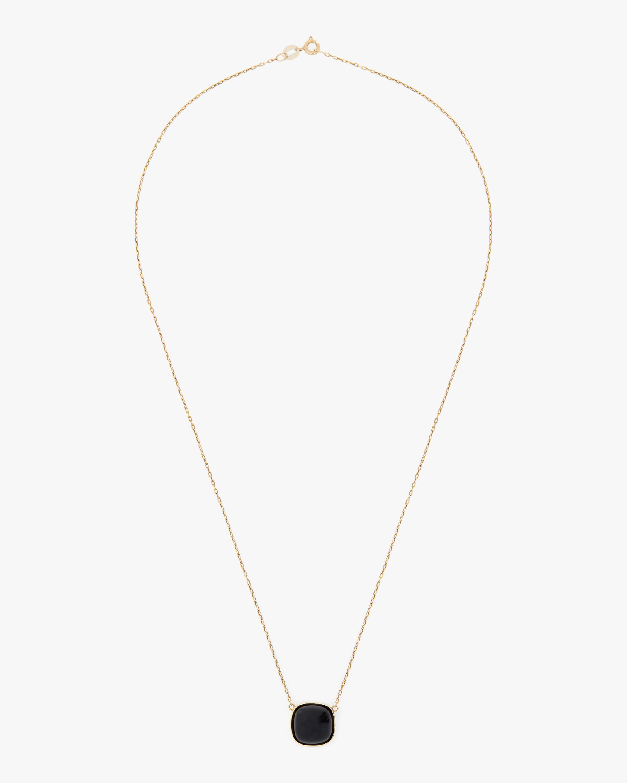 Juliette Du Jacob Black Chalcedony Pendant Necklace 1