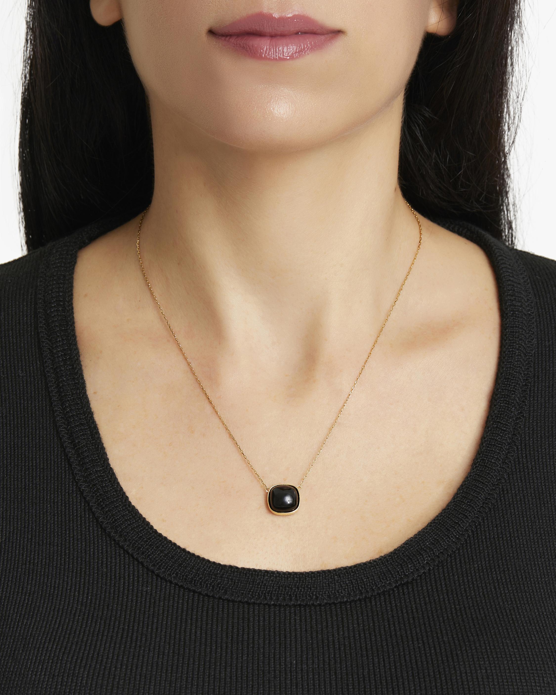 Juliette Du Jacob Black Chalcedony Pendant Necklace 2