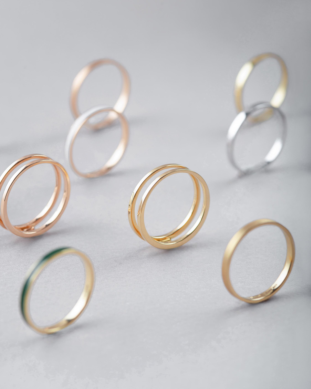 Marie Mas Unisex 18k Rose Gold U Ring 2