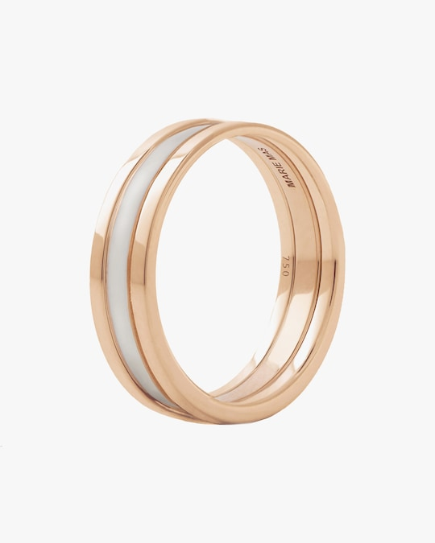 Marie Mas Unisex 18k Rose Gold WE Ring 0