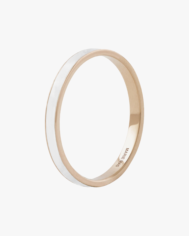 Marie Mas Unisex 18k Rose & White Lacquer Gold I Ring 0