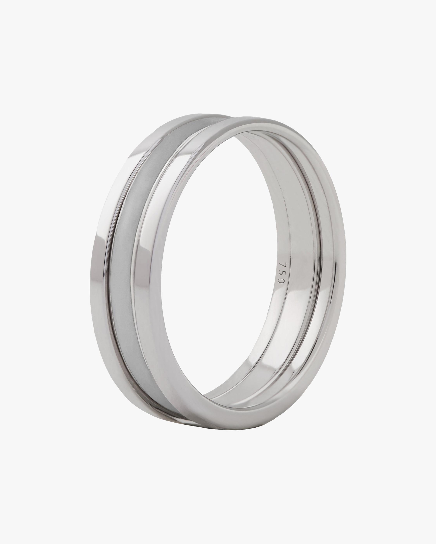 Marie Mas Unisex 18k White Gold WE Ring 0