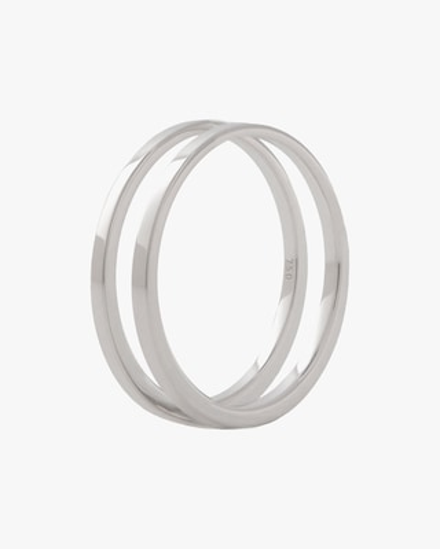 Marie Mas Unisex 18k White Gold U Ring 1
