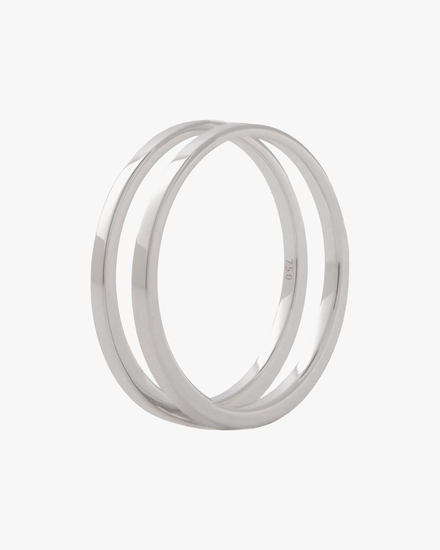 Marie Mas Unisex 18k White Gold U Ring 0
