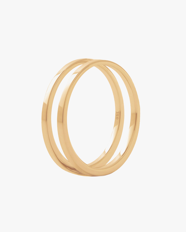 Marie Mas Unisex 18k Yellow Gold U Ring 0