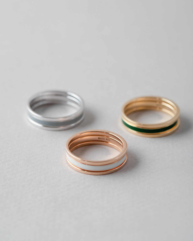 Marie Mas Unisex 18k Yellow Gold WE Ring 2