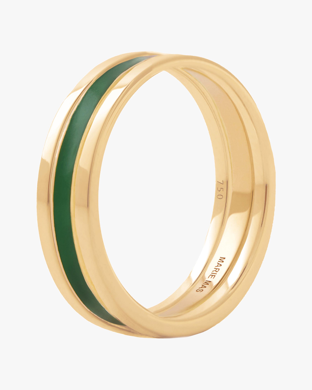 Marie Mas Unisex 18k Yellow Gold WE Ring 0