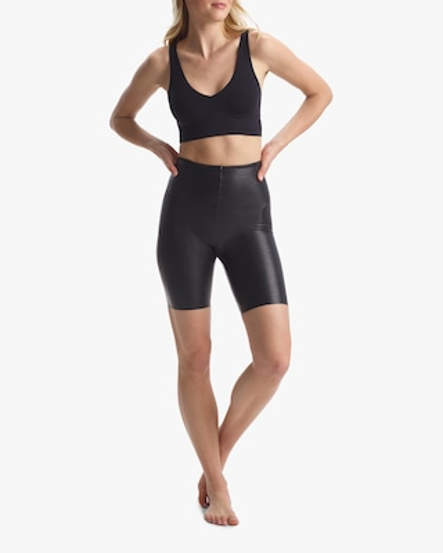 Commando Faux Leather Bike Shorts 1