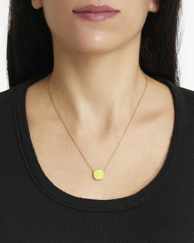Juliette Du Jacob Lemon Chalcedony Pendant Necklace 1