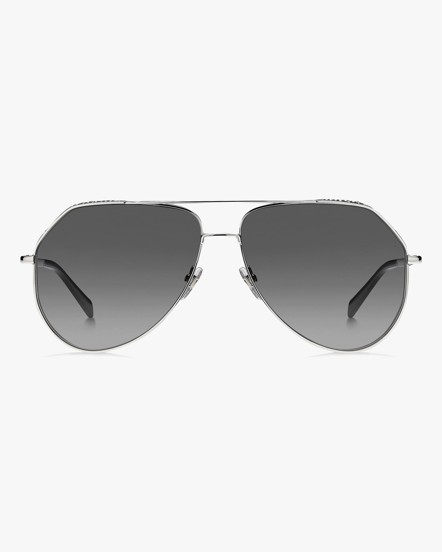 Givenchy Silver Aviator Sunglasses 1