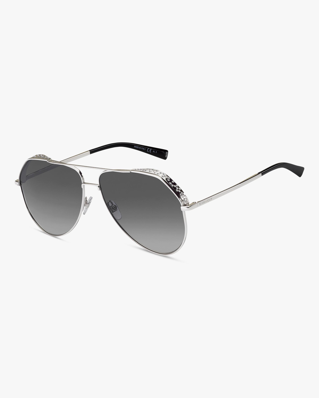 Givenchy Silver Aviator Sunglasses 2