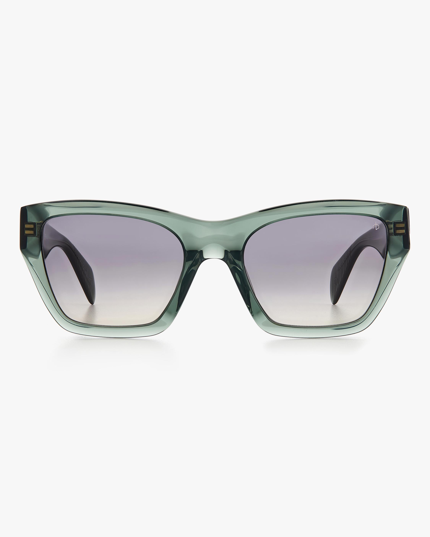 rag & bone Green Cat-Eye Sunglasses 1