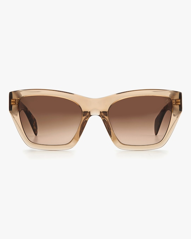rag & bone Beige Havana Cat-Eye Sunglasses 0