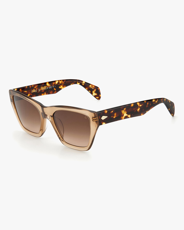 rag & bone Beige Havana Cat-Eye Sunglasses 1