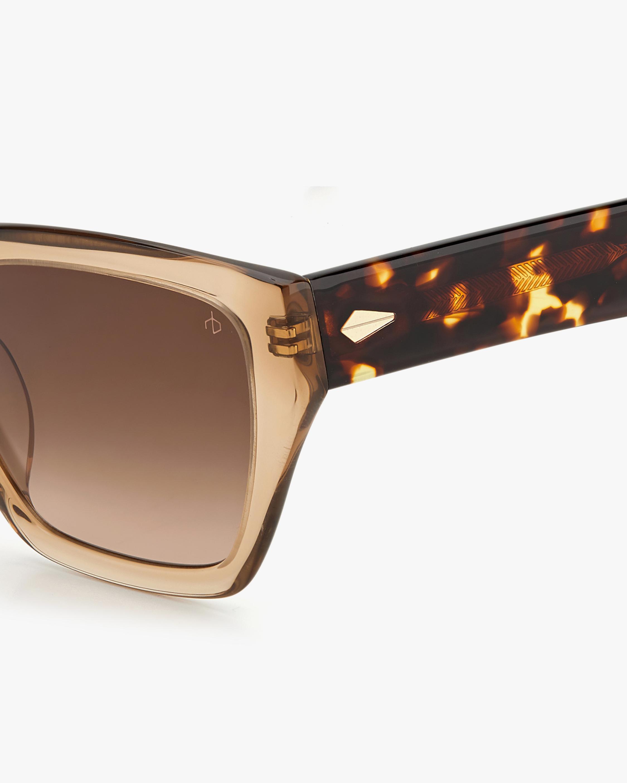 rag & bone Beige Havana Cat-Eye Sunglasses 3