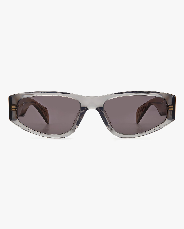rag & bone Grey Beige Modified Oval Sunglasses 1