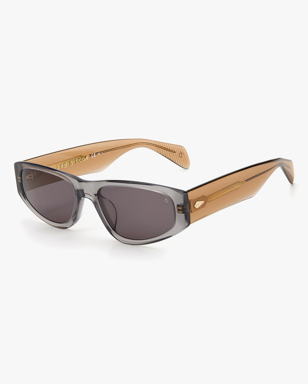 rag & bone Grey Beige Modified Oval Sunglasses 2