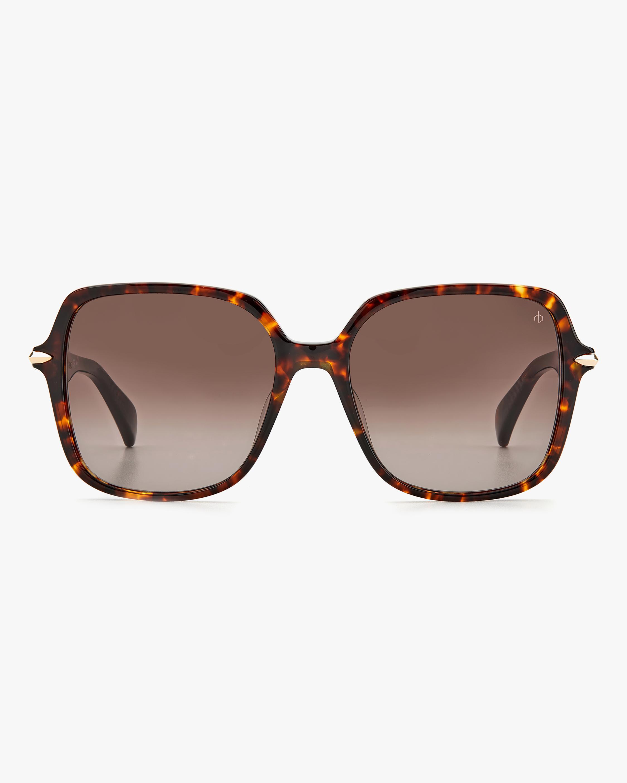 rag & bone Dark Havana Square Sunglasses 0