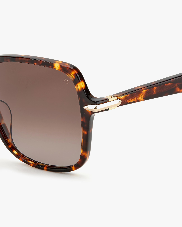 rag & bone Dark Havana Square Sunglasses 3