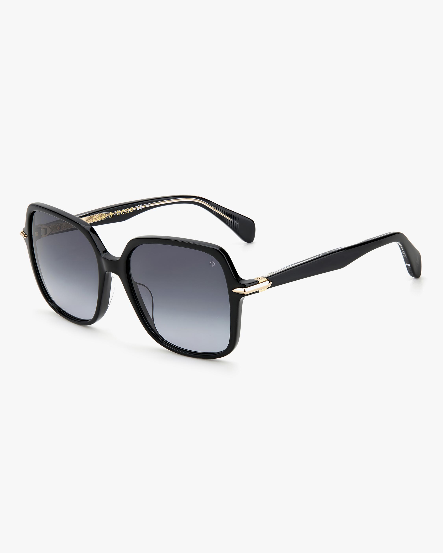 rag & bone Black Square Sunglasses 1