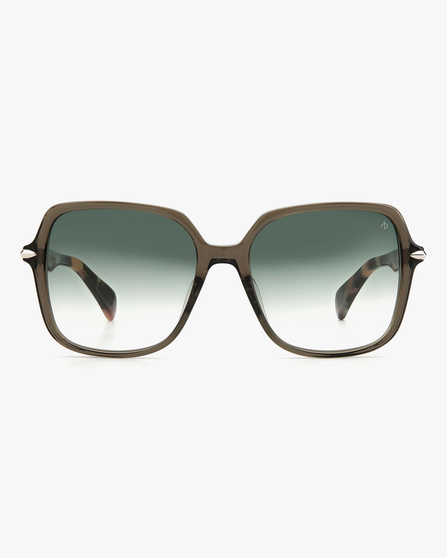 rag & bone Grey Havana Square Sunglasses 1