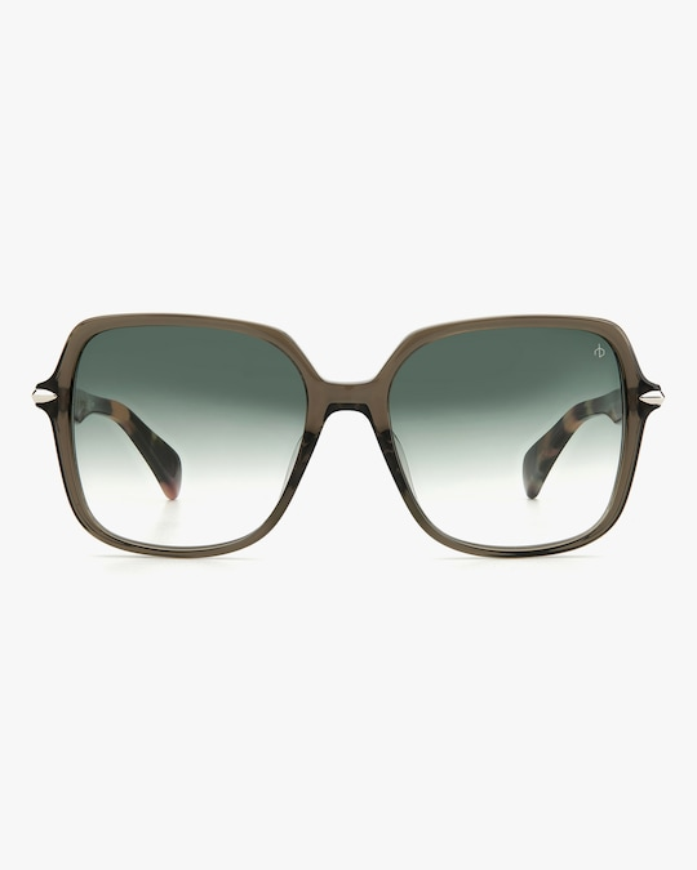 rag & bone Grey Havana Square Sunglasses 0