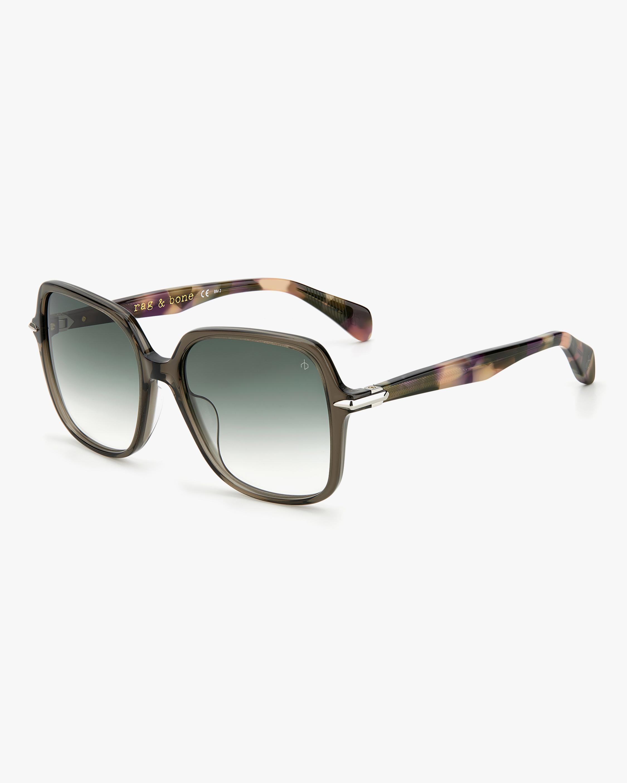 rag & bone Grey Havana Square Sunglasses 2