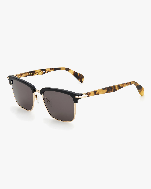 rag & bone Black Square Sunglasses 2