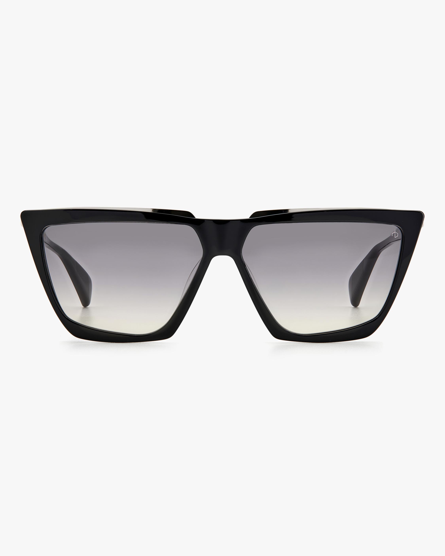 rag & bone Black Geometric Sunglasses 0