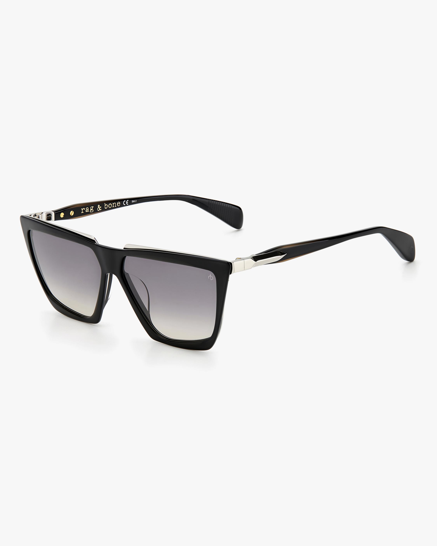 rag & bone Black Geometric Sunglasses 1