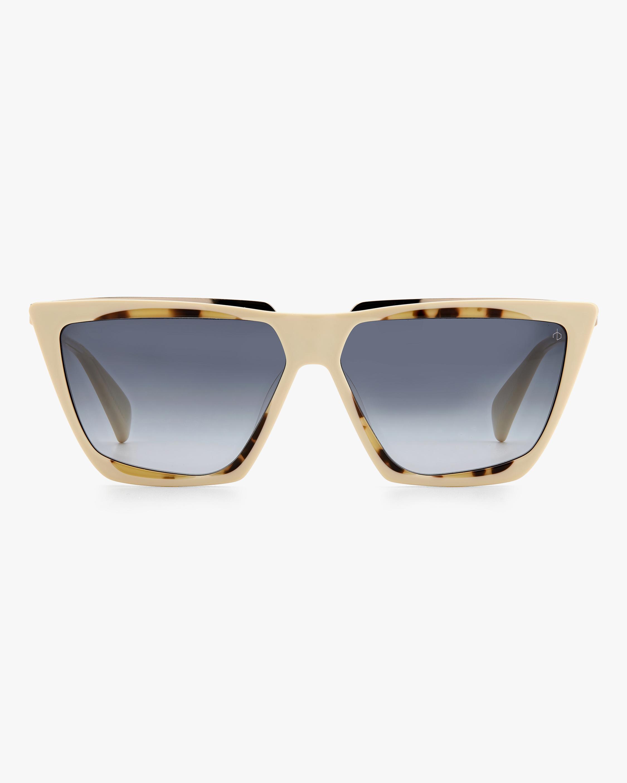 rag & bone Beige Havana Geometric Sunglasses 1