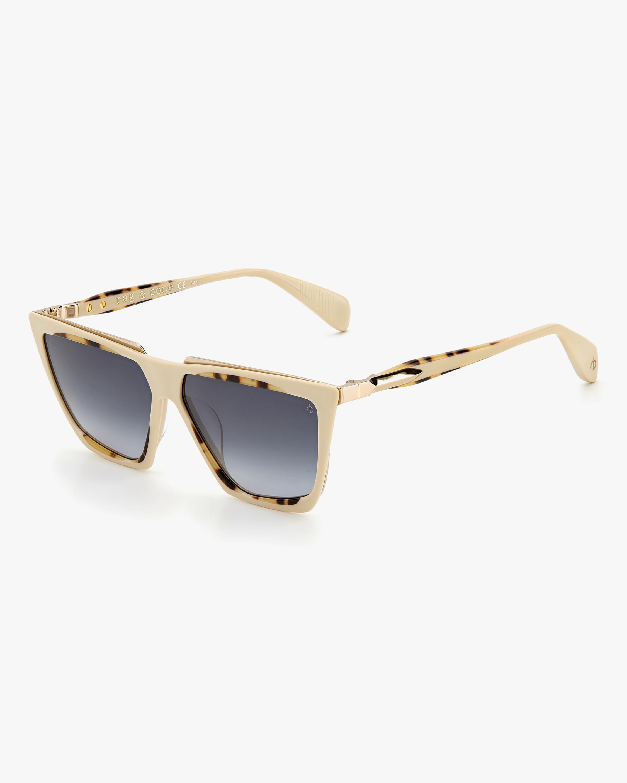 rag & bone Beige Havana Geometric Sunglasses 2