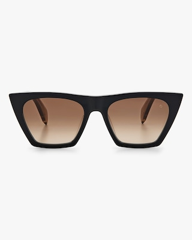rag & bone Black Beige Cat-Eye Sunglasses 1
