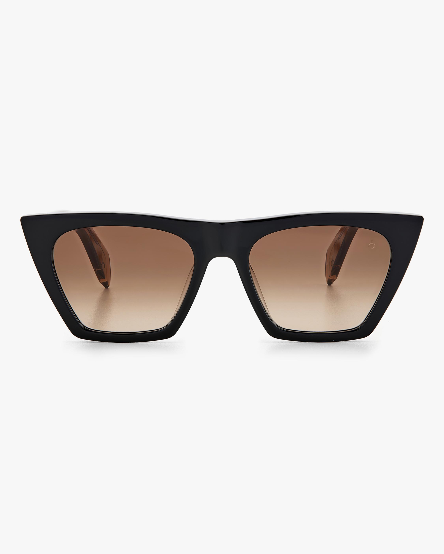 rag & bone Black Beige Cat-Eye Sunglasses 0