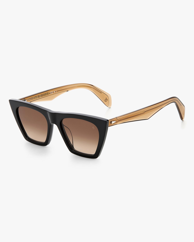 rag & bone Black Beige Cat-Eye Sunglasses 2