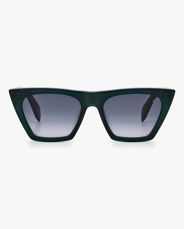 rag & bone Grey Green Cat-Eye Sunglasses 0