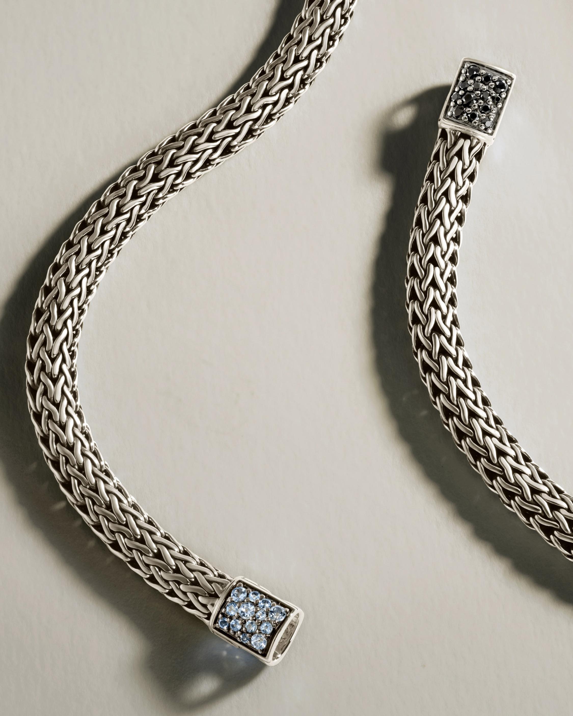 John Hardy Classic Chain Aquamarine Reversible Bracelet 3